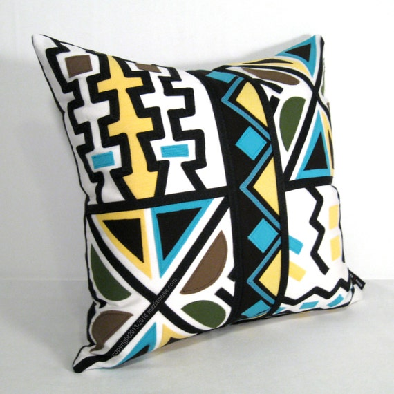 Modern Tribal Pillows : SALE Tribal Outdoor Pillow Cover Mudcloth Modern Boho by Mazizmuse