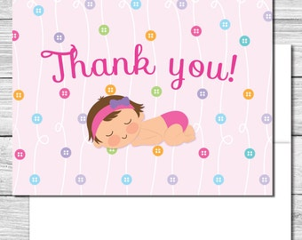 Thank you Notes--Cute as a Button Party--503S