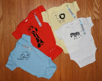 Safari Set - Set of 4 Safari Themed Onesies