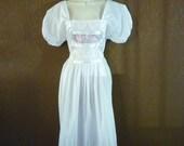 Vintage Embroidered Boho Dress, Size M/L