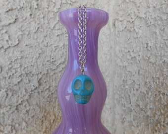 Howlite Skull Necklace