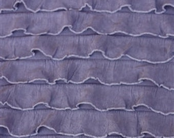 "Steel Orchid Cascading 1"" Ruffle Fabric"