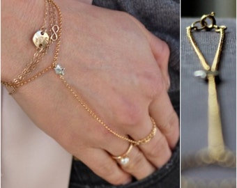 Little Star Hand Chain - 14K Goldfilled and Silver