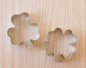 St Patrick's Day Cookie Cutter Set - Shamrock and 4 Leaf Clover Cookie Cutters