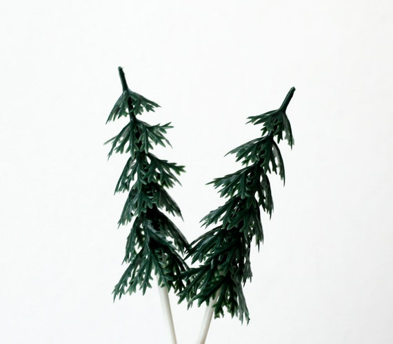 Pine Tree Cupcake Picks (12)