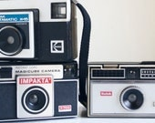 Instamatic Cameras, Instant Collection, Gift For Teens, Decor Cameras, Set of 3, Gift Under 30, Dorm Decor