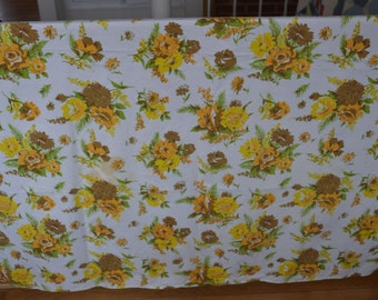 Vintage Fall Floral Tablecloth