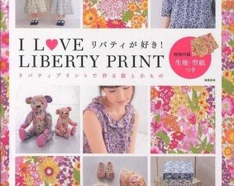 Liberty Print Dress Pattern, Japanese Sewing Pattern Book for Women, Girl Children Clothing, Easy Sewing Tutorial, Skirt, Blouse, Bag, B1094