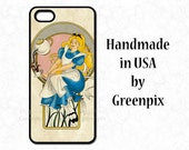 Disney iPhone 6 Alice in Wonderland case, Princess, Galaxy S5, tea party, fairy tale, original art, i Phone 4 4S 5 5S 5C 6S phone cover