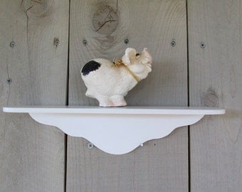 Wood Small Shelf / White Wood Shelf / Accent Shelf / Small Wood Shelf