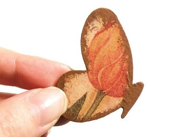 Wooden Butterfly Brooch - TULIP FLYING BUTTERFLY