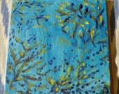 PAINTING SALE - Under the Sea - Acrylics on Canvas Board - 12ins x 12ins - 30cm square