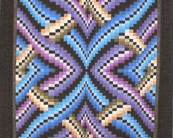 Illusion Bargello Strip Pieced Lockwood Quilt Pattern