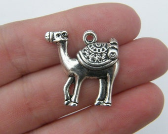 4 Camel charms antique silver tone A220