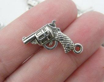 10 Gun charms tibetan silver G17