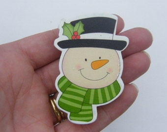 5 Snowman pegs 61 x 44mm - SALE 75% OFF