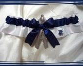 White Satin Ribbon Garter Keepsake Made with North Port High School