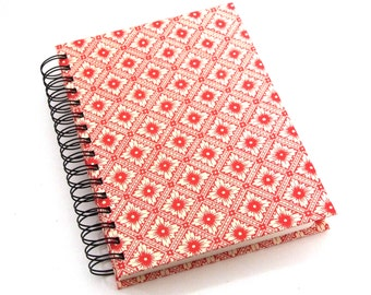 red Sketchbook, spiral bound art journal A5