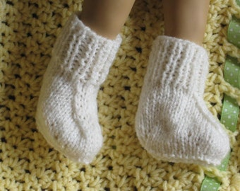 PDF KNITTING Pattern - Easiest Booties Ever - Low Birthweight Preemie Prem Baby Booties/Socks On 2 needles