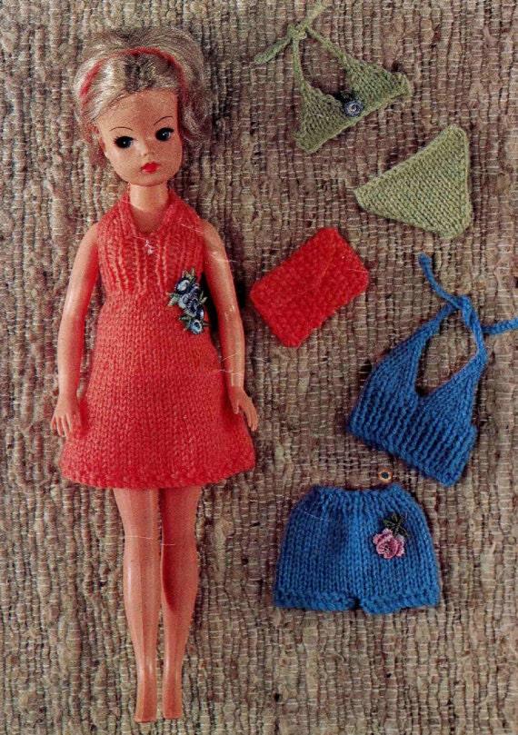Free Sindy Doll Knitting Patterns : FALL SALE Knit pattern Sindy Tammy Tressy Set of holiday