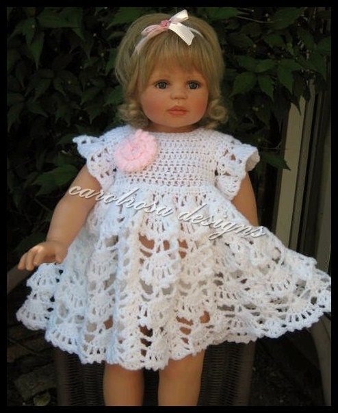 Baby Crochet Pattern Crochet Summer Dress to fit 3 to 6
