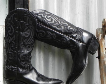 justin, womens size 6.5, cowboy boots