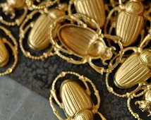 Brass Beetle, Perfect for Enameling (BR039)