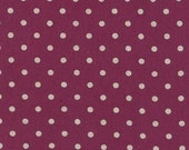 Mochi Linen Dots by Momo for Moda Fabrics, Dots in Boysenberry 1/2 yard total
