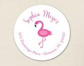 Flamingo Address Labels - Sheet of 24