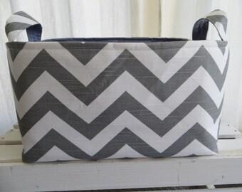 Diaper Caddy, Fabric Organizer Storage Container Basket Bin  No Divider 12 X 10 x 6