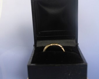 SALE Fancy Black Ring Box