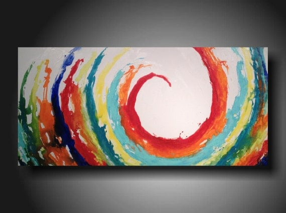 Art Original abstract Painting modern landscape painting   art painting large landscape painting 24 X 48