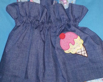 Boutique OOAK Pillowcase Cutie Collection Ice Cream Dress