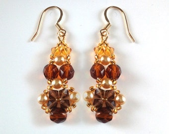 Autumn Harvest Crystal Earrings