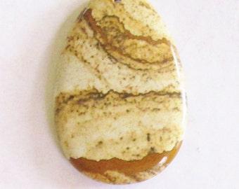 genuine Picture Jasper gemstone pendant focal bead 55mm