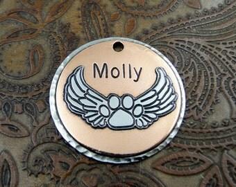Custom Memorial ID Tag-Personalized Pet Memorial Pendant or Keychain Fob-Handcrafted Pet Memorial Tag