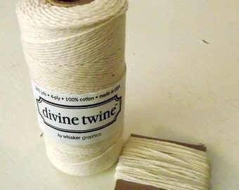 Cream String Divine Twine 10 Yards Solid Off White Cotton