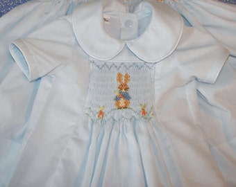 Beatrix Potter Hand Smocked INFANT Bubble Romper  for Easter or special occasion CUSTOM ORDERS