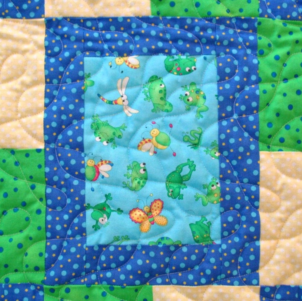 Baby Quilt For Boy Handmade Baby Quilt Blanket Quilted