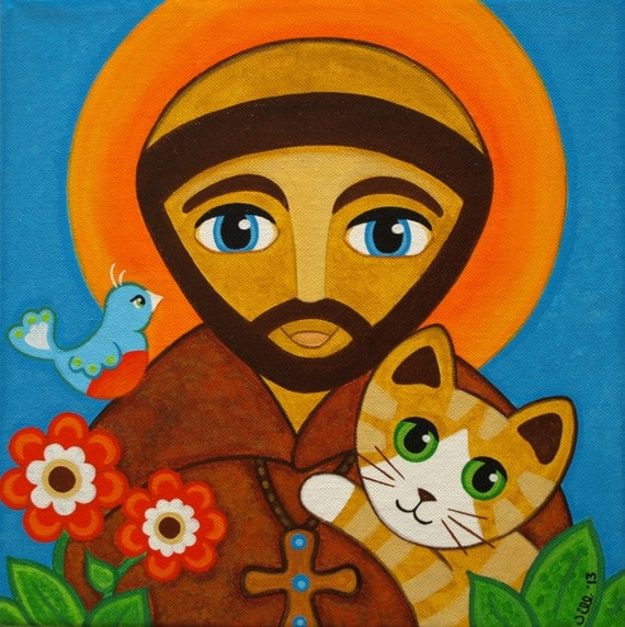 Cat Saint Francis