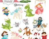 Instant Download - Fairy Tale Friends - digital clipart- printable artwork