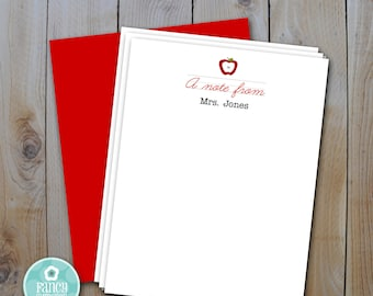 Teacher's Gift, Instant Download Personalized Teacher Note Card Template, DIY Editable File