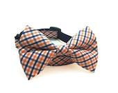 Bow Tie Dog Collar - Navy & Orange - Denver Broncos