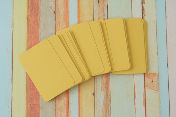 50pc CITRON Yellow Vintage Series Business Card Blanks