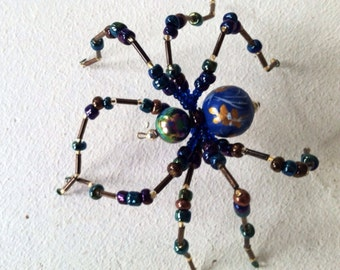Hand painted Blue Spider
