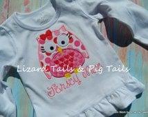 Girls Valentine Owl Shirt Valentine Shirt for Girls Cute Owl Girly Owl Birthday Owl Pink Red