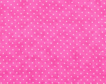 PINK polka dots Moda Fabric 3 yds Bubble Gum Essential Dots quilting sewing blender baby girl Easter spring shabby 3 full yards 8654-36
