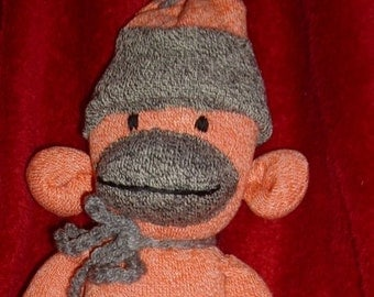Non traditional  sock monkey toy for all ages