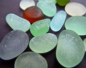 Sea Glass or Beach Glass of Hawaii beaches 4 PENDANT BEAUTIES  Quarter size Superior SHAPE and Pitting