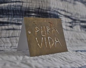 Pura Vida, 4.2x5.5in recycled paper photograph notecard, inspired by Costa Rica